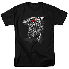 Sons Of Anarchy Reaper Logo Mens Short Sleeve Shirt Black