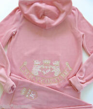 Juicy Couture Velour Tracksuit Pink Old School Hoodie Pants Track Large L