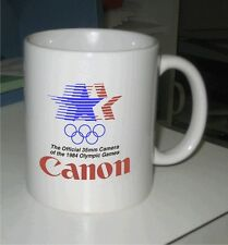Classic Full Color 1984 CANON OFFICIAL OLYMPICS LOGO 2 Sides White 11oz Mug