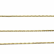 Bulk 18k Gold-Flashed Sterling Silver 0.9mm Diamond-Cut BEADING stringing CHAIN