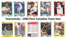 1990 Fleer Canadian Baseball Team Sets ** Pick Your Team Set **