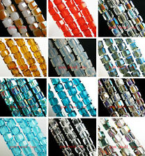 50pcs Crystal Cube Findings Loose Glass Beads Free Shipping Charms 6x6x6mm