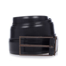 MARTIN MARGIELA MM11 New Man Black Leather Belt Made in Italy NWT