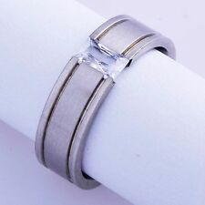 Mens womens Crystal white Gold Filled mystic love Ring size 7 8 9 10 lots