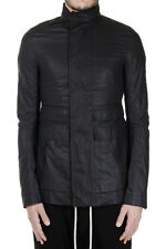 RICK OWENS New Men Black cotton Jacket zipped FIELD Made in Italy NWT