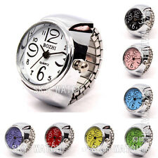 Creative Fashion Steel Round Elastic Quartz Finger Ring Watch Lady Girl Gift Hot