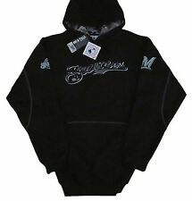 Milwaukee Brewers Majestic MLB Big & Tall Catchers Box Pullover Hoodie-Black-NWT