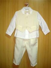 BABY BOY OUTFIT Formal Wear Cream Ivory Suit Christening ClothesWedding Clothing