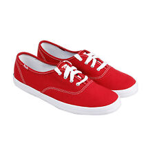 Keds Champion Womens Red Canvas Lace Up Lace Up Sneakers Shoes