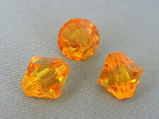 10mm 50/100/200/500pcs ORANGE RED FACETED ACRYLIC PLASTIC BICONE BEAD TY2257