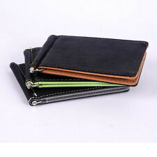 Chic Mens Card Coin Pockets Bifold Money Clip Leather Holder Wallets Purse