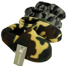 New Boys Camouflage Childrens Slipper Kids Quality Camo Slippers Size US 10.5-5