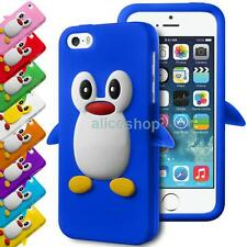 3D Cartoon Penguin Silicone Rubber Soft Case Cover for iPhone 7 7 Plus 6 6S 5S