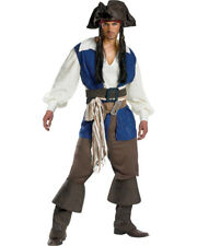 Mens Deluxe Pirates Of The Caribbean Stranger Tides Captain Jack Sparrow Costume