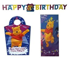 WINNIE THE POOH Birthday Party Tableware, Stickers & Accessories
