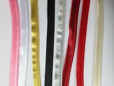 Polyester satin Bias cord tape Flange Piping Trim Upholstery 12 mm wide