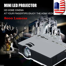 1200Lumens1080P LED Home theater Multimedia Projector HDMI/USB/VGA SD Play US