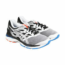 Asics Gel-Cumulus 18 Mens White Black Mesh Athletic Lace Up Running Shoes