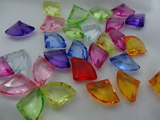 14x19mm 20/50pcs CLEAR FACETED ASSORTED COLORS ACRYLIC BEADS CC3851
