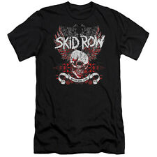 Skid Row Winged Skull Mens Slim Fit Shirt Black
