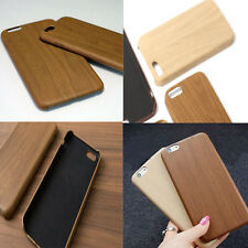 Ultra-thin Wood Grain Leather Case Soft Shockproof Protector Cover for iPhone