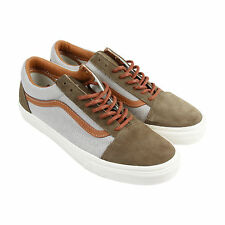 Vans Old Skool Reissue Mens Gray Textile & Suede Lace Up Lace Up Sneakers Shoes