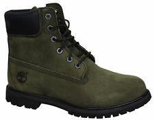 Timberland EarthKeepers 6 Inch Premium Womens Boots Olive Waterproof 8350B D72