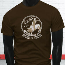 COWBOY RODEO IN TEXAS COUNTRY WESTERN PROUD BULL Mens Brown T-Shirt