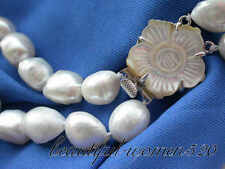 z3125 2strands 18mm baroque white freshwater pearl necklace