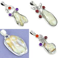 Natural biwa pearl 925 sterling silver pendant jewelry by jewelexi 4876A