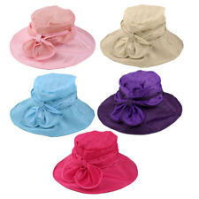 Women Summer Sea Beach Travel Polyester Foldable Floppy Sun Protector Hat Cap
