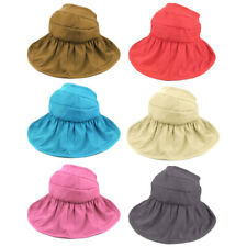 Woman Lady Summer Outdoor Holiday Wide Floppy Brim Foldable Visor Cap Sun Hat