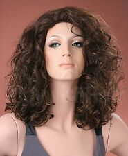 Ladies Long Bouncy Curls Brown Full Fashion Wig Forever Young Wigs
