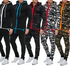 Men's Army Camouflage Battle Dress Jogging Suit Pants Jacket Trackies Military