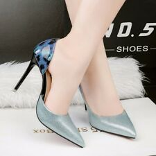 Fashion Multi Color Pointed Toe Side Empty High Heels Pumps Stilettos OL Shoes