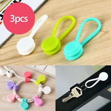 3pcs Multifunctional Magnet Earphone Cord Winder Cable Holder Organizer Clips