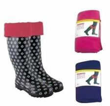 Girls Fleece Wellie Liner Socks Sizes 2 Colours , Different Sizes to Choose