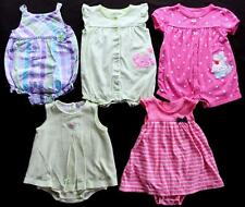 Baby Girl 12 Month Carter's Summer One piece Outfit Romper Clothes Lot Free Ship