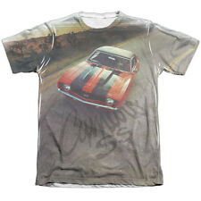 Chevy Camaro Ss Mens Sublimation Poly Cotton Shirt White