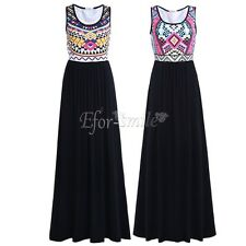Women Ladies Long Evening Party Sleeveless Cocktail Formal Summer Casual Dress