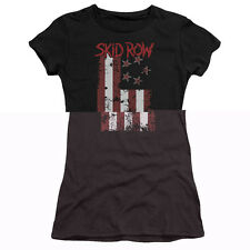 Skid Row Flagged Juniors Premium Bella Shirt Black