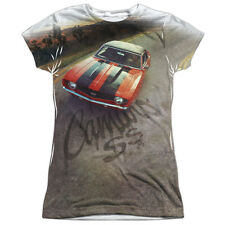 Chevy Camaro Ss Juniors Sublimation Polyester Shirt White
