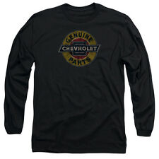 Chevy Genuine Chevy Parts Distressed Sign Mens Long Sleeve Shirt Black