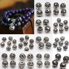 10/20Pcs Hot Silver Plated Loose Round Spacer Bead Charm Jewelry DIY Making 8mm