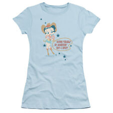 Betty Boop Hot And Spicy Cowgirl Juniors Short Sleeve Shirt