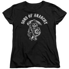 Sons Of Anarchy Soa Reaper Womens Short Sleeve Shirt