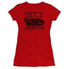 Knight Rider Kitt Happens Juniors Premium Bella Shirt