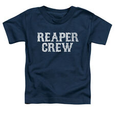 Sons Of Anarchy Reaper Crew Little Boys Toddler Shirt Navy