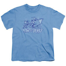 Tom And Jerry Sketchy Big Boys Youth Shirt