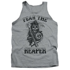 Sons Of Anarchy Fear The Reaper Mens Tank Top Shirt Athletic Heather